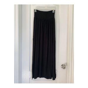 H&M Black maxi skirt